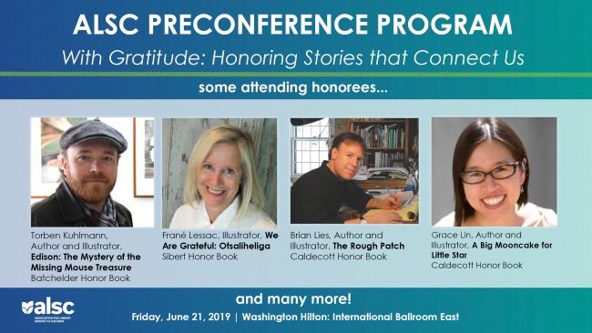 ALSC Preconference Program information with pictures of authors