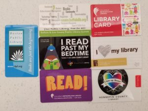 """Cards that have fun sayings like """"Read, I love my library and I Read Past my bedtime."""""""