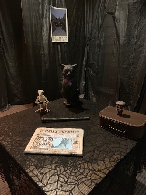 Escape Room display with The Daily Prophet