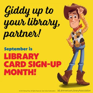 Library Card Sign Up Month Instagram share