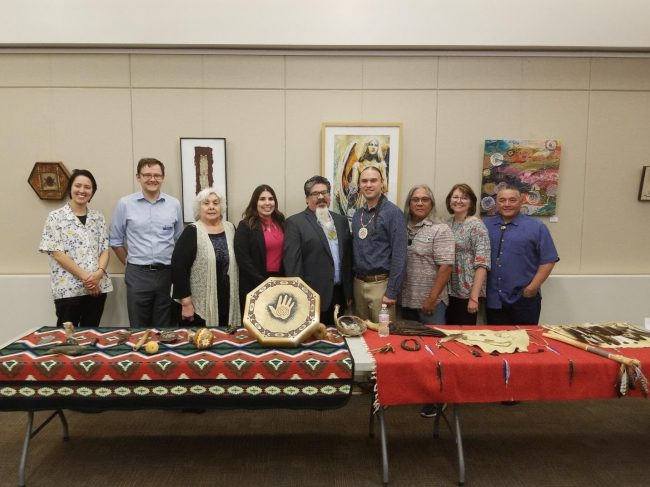 Tribal Senators and Elders of the Tataviam with Staff of the Santa Clarita Public Library at the launch of Yawáyro Book Kits.