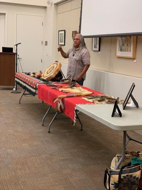 FTBMI Tribal Elder Dennis Garcia presents at the Yawáyro launch