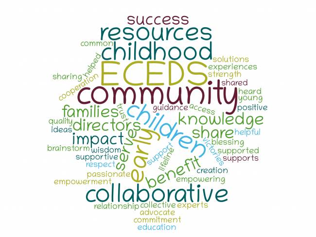 word cloud from early childhood professionals