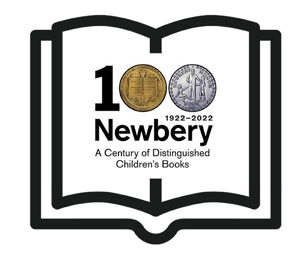 ALSC Newbery 100 Anniversary Logo
