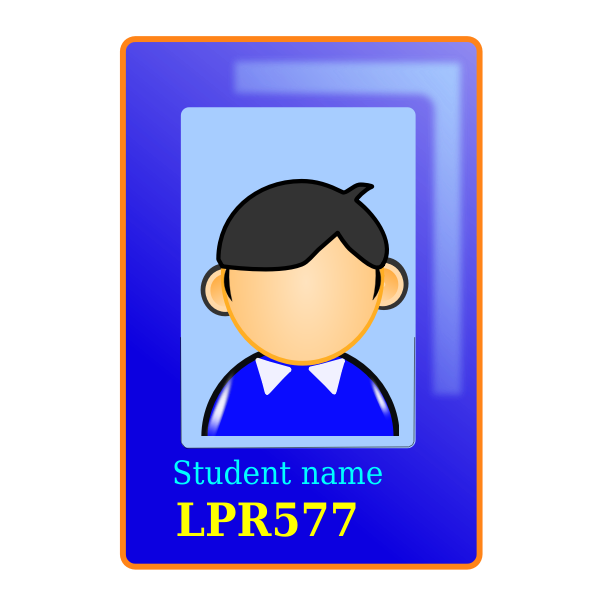 Sample of a student card id